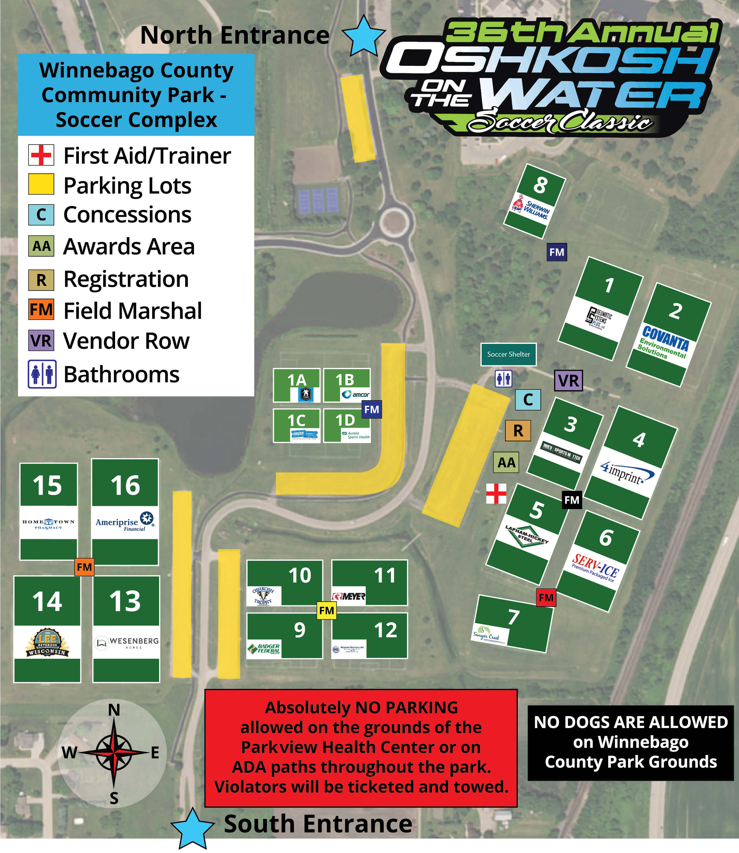 Oshkosh On The Water - County Park Map