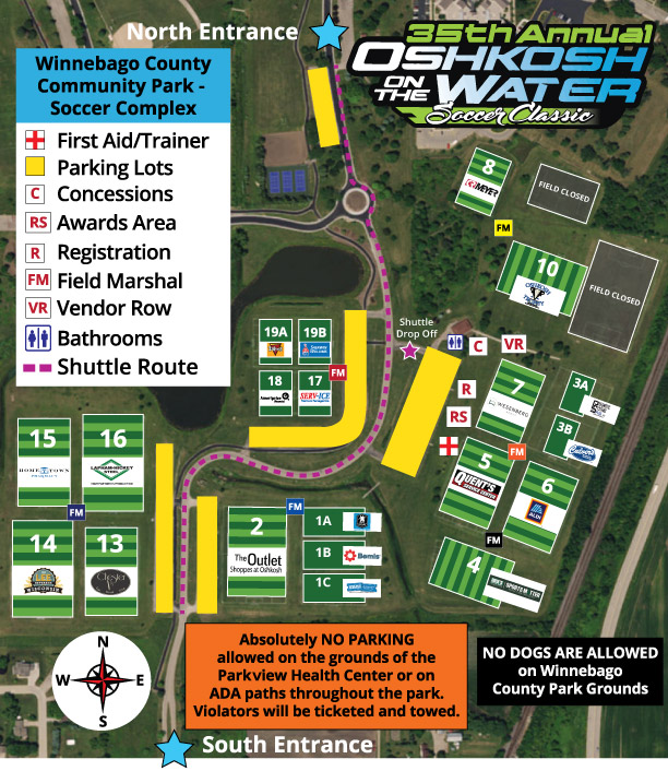 Field Map | Oshkosh United Soccer Club
